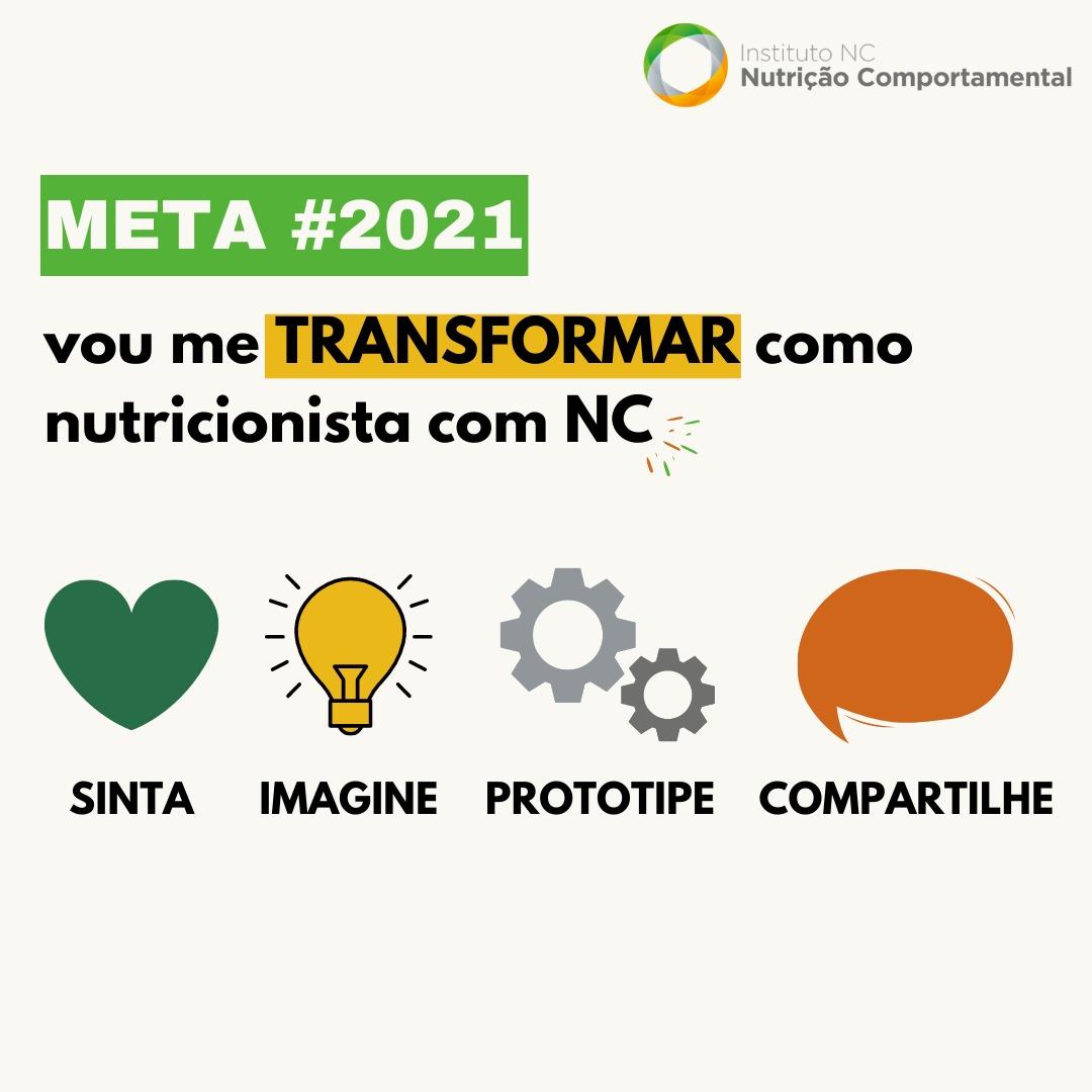 Metas #2021 para transformação do nutricionista com o design thinking